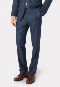 Clifford Navy Donegal Wool Suit Trouser