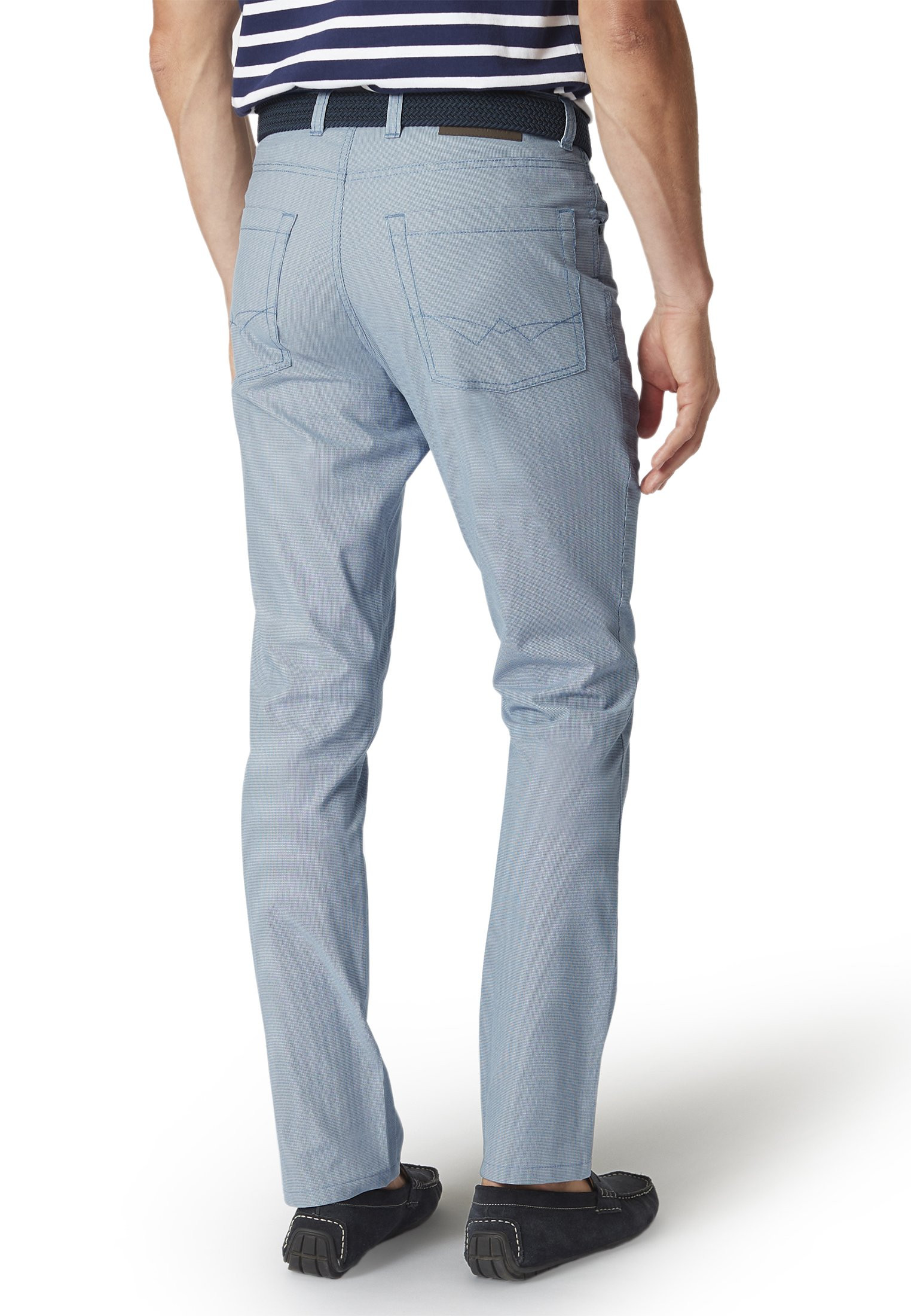 Kettlewell Blue Puppytooth Tailored Fit Trouser