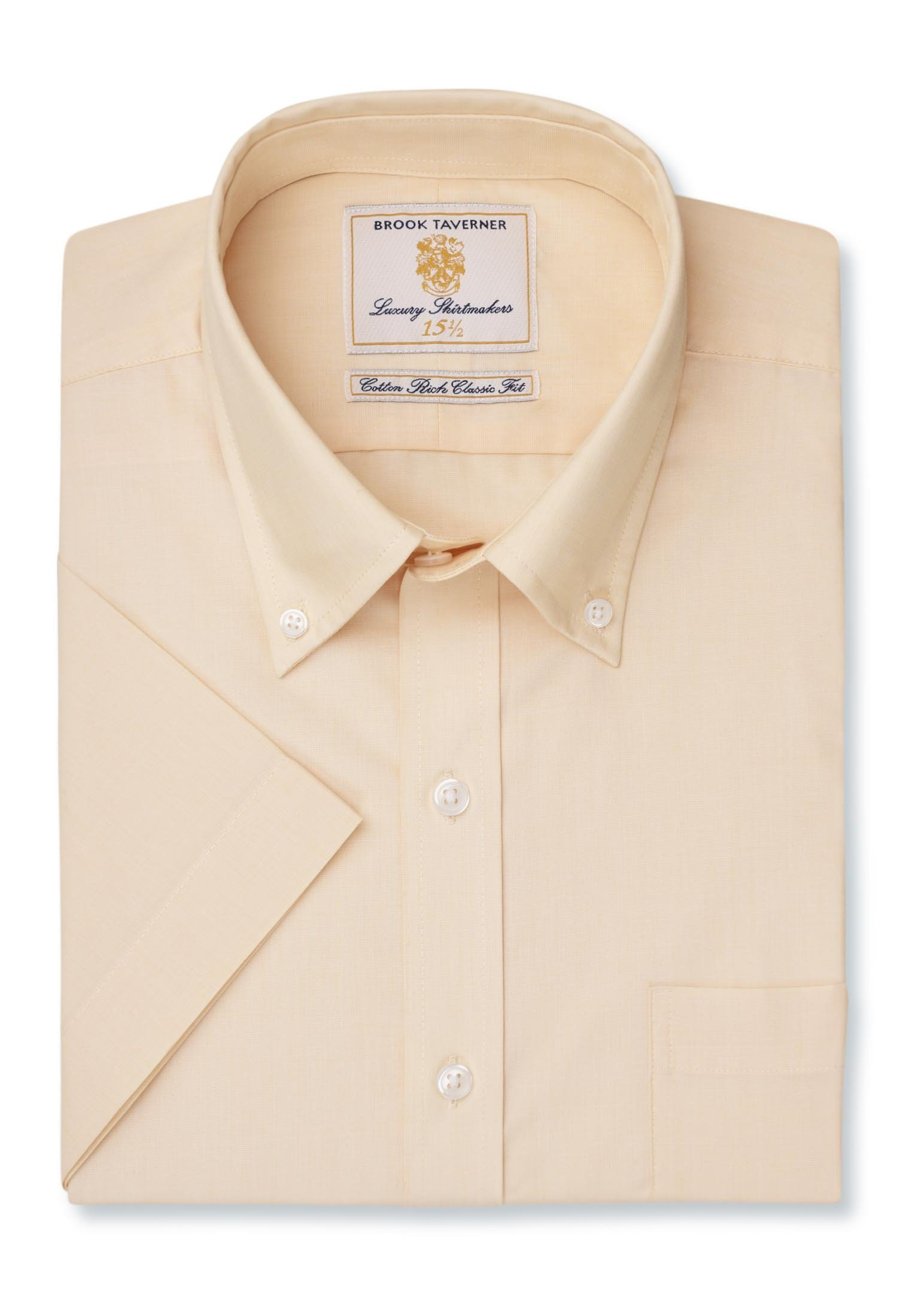 Long And Short Sleeve Lemon End On End Button Down Collar Shirt