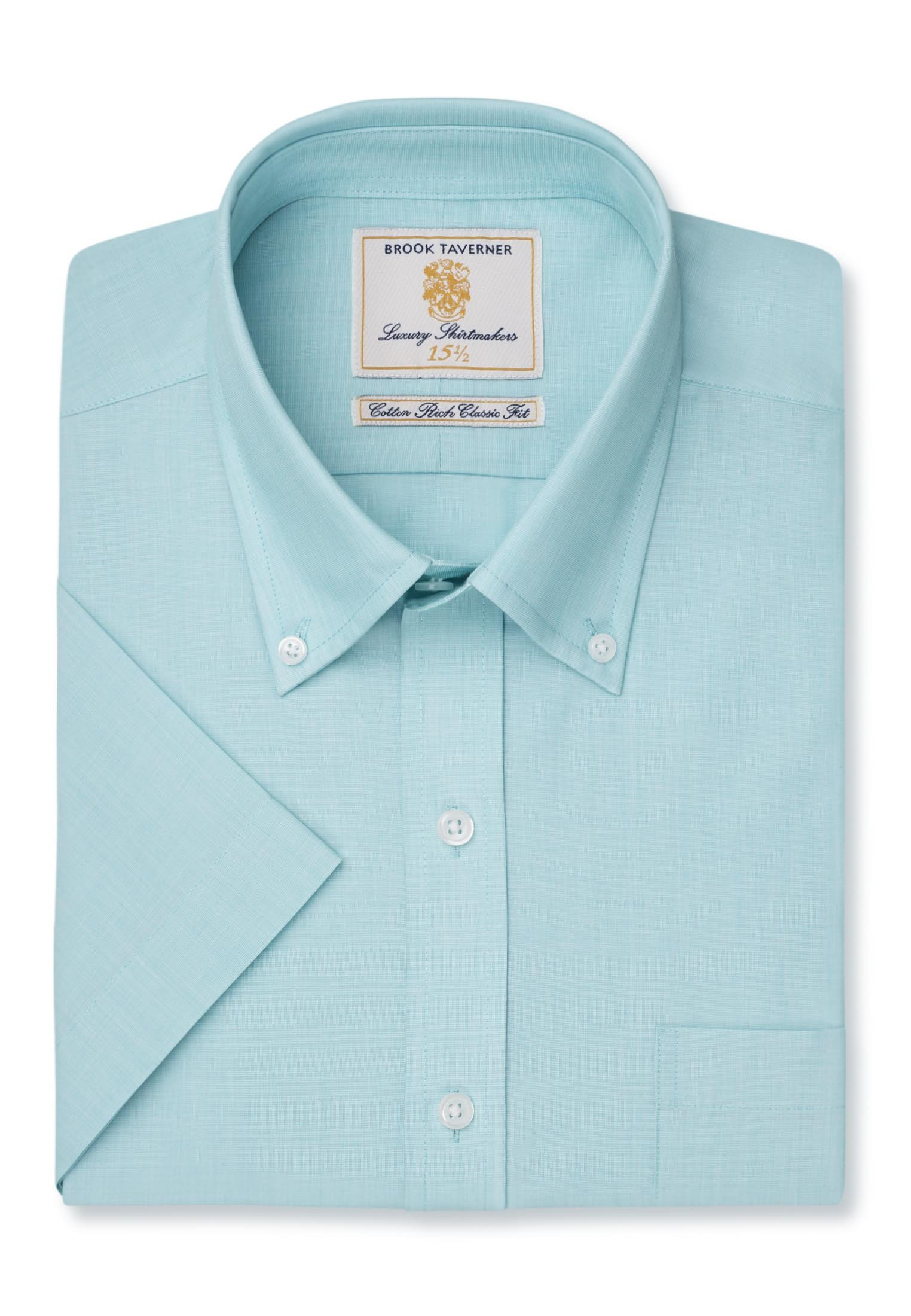 Long and Short Sleeve Mint End On End Button Down Collar Shirt